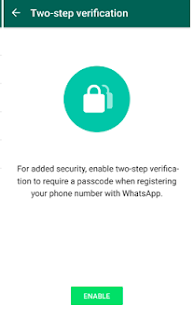 Download Latest WhatsApp 2.16.349 & Enable Two Step Verification Feature