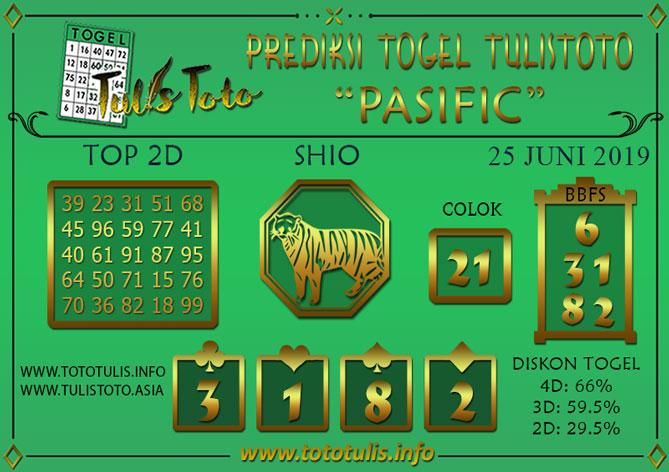 Prediksi Togel PASIFIC TULISTOTO 25 JUNI 2019
