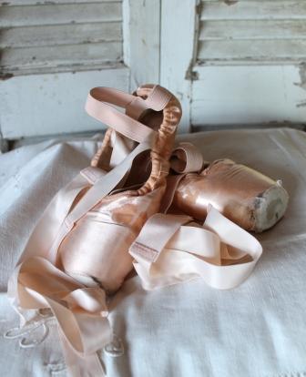 c59597b0200 Frøken Anker . Brocante og Vintage: VIND balletsko