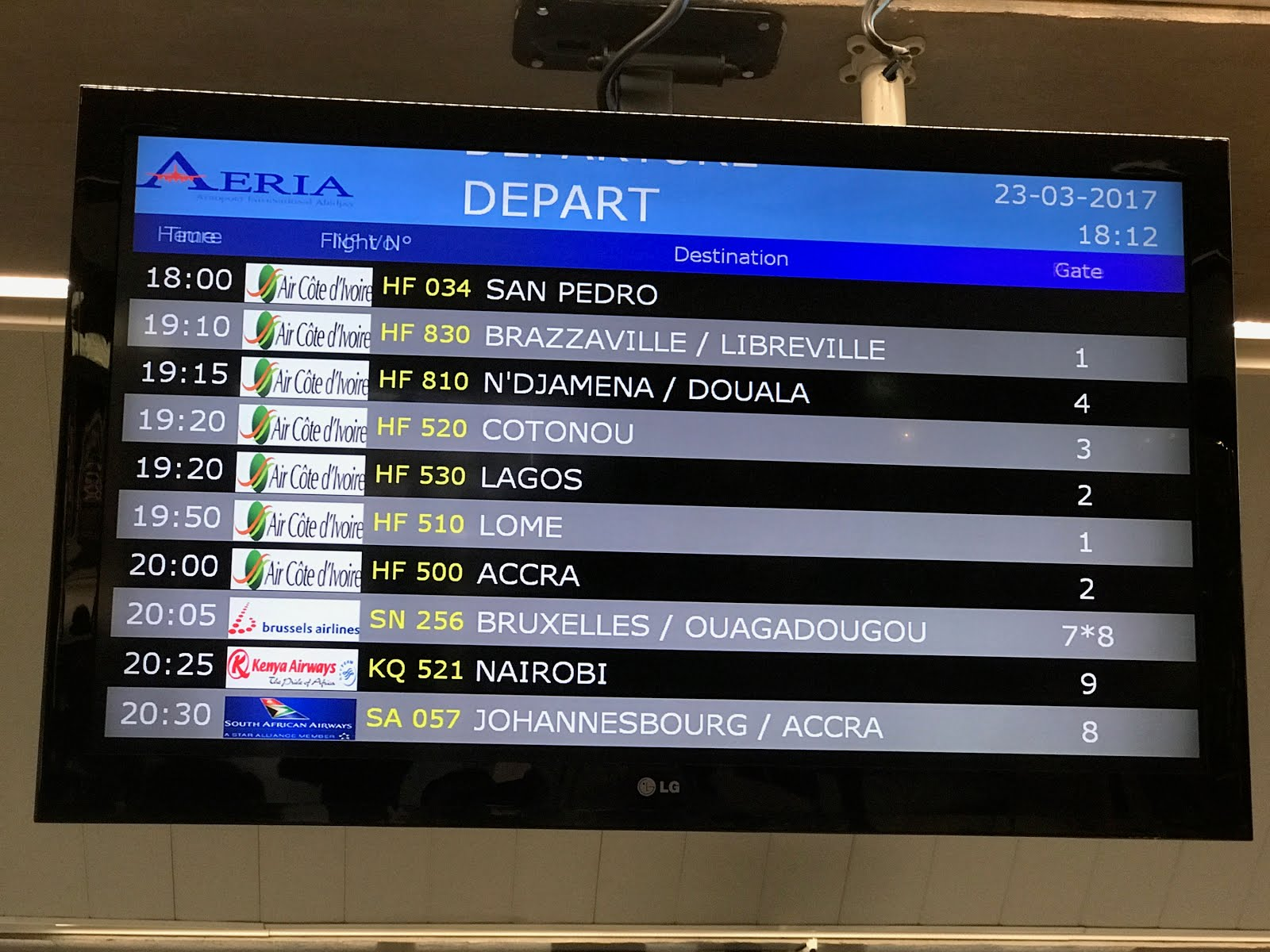 Airline Time tables