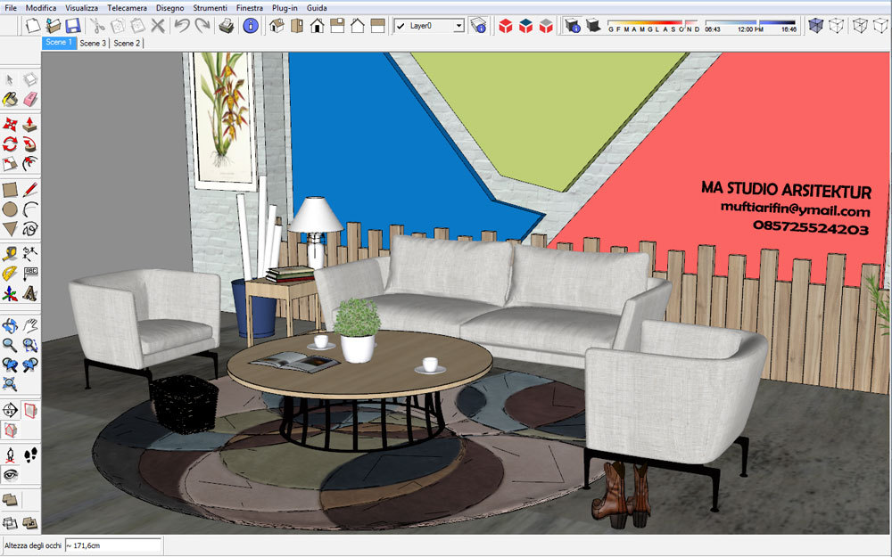 free sketchup 3d-model living-room 34 sketchup file