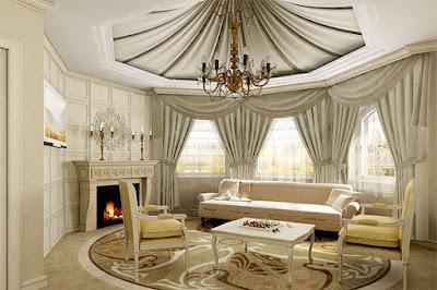 desain ruangan glamor juga menjadi idaman para keluarga besar 64 Ide Desain interior Ruang Tamu Mewah