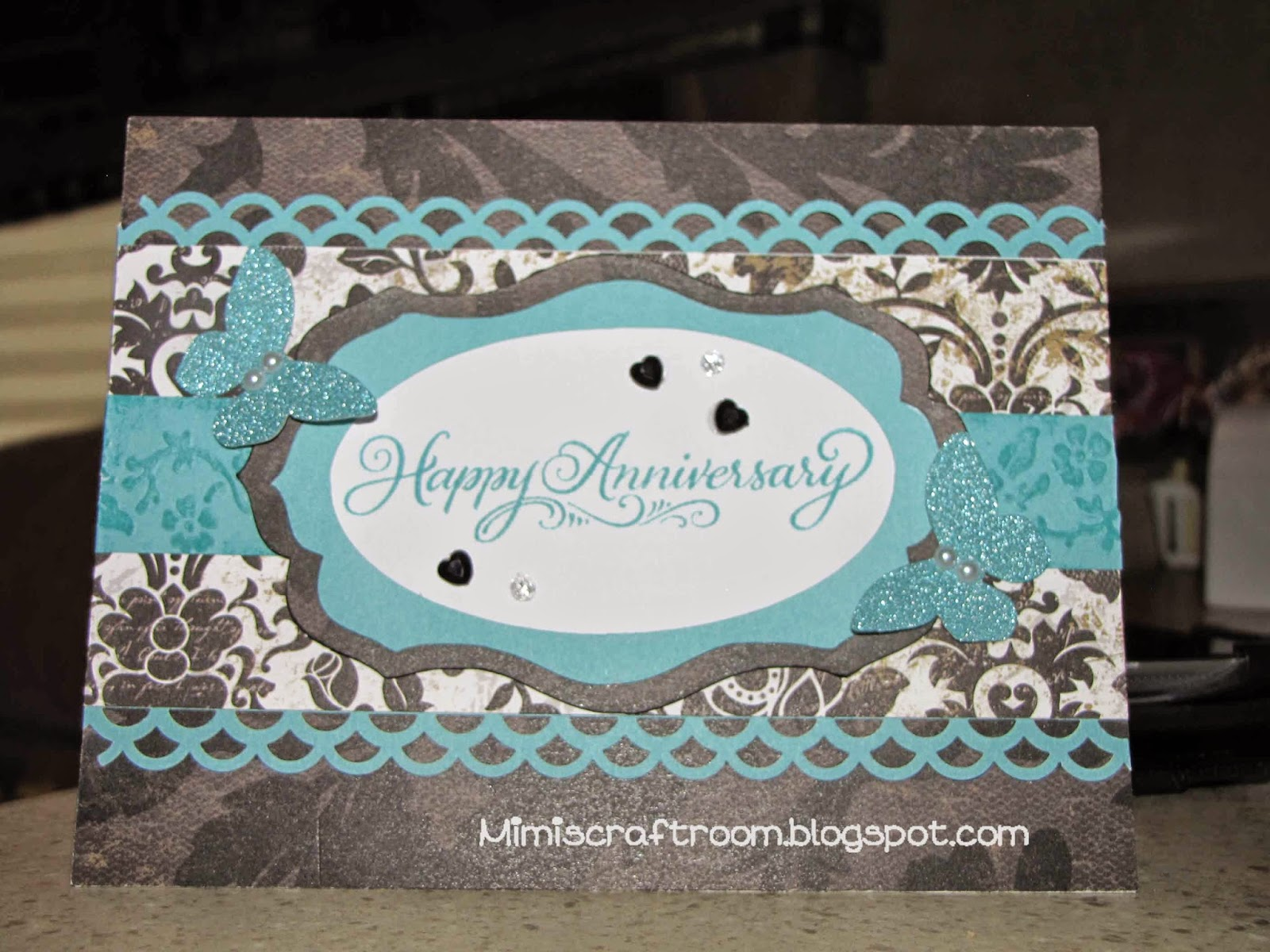Mimi's Craft Room Anniversary Card With Cricut