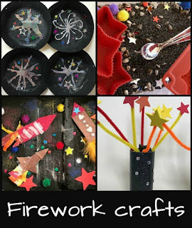 Firework crafts for children for Bonfire Night