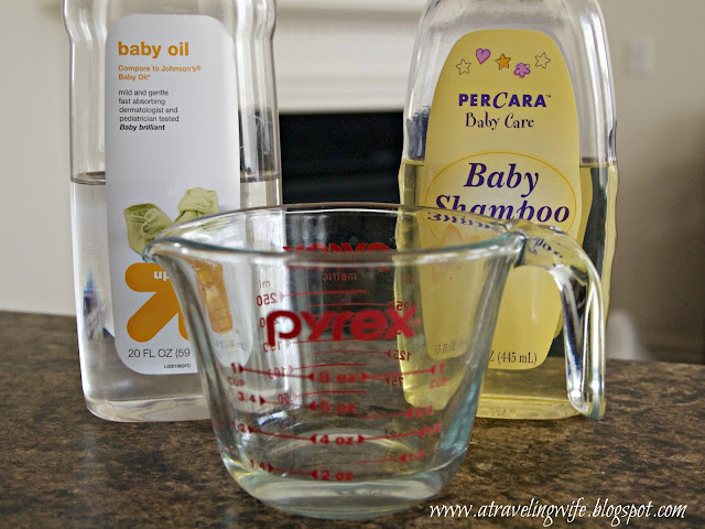 DIY, a traveling Wife, Clinique, baby oil, baby shampoo