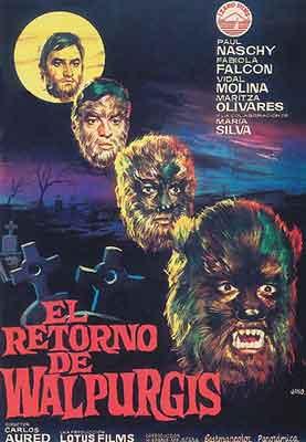 El retorno de Walpurgis una de las películas más conocidas de Carlos Aured