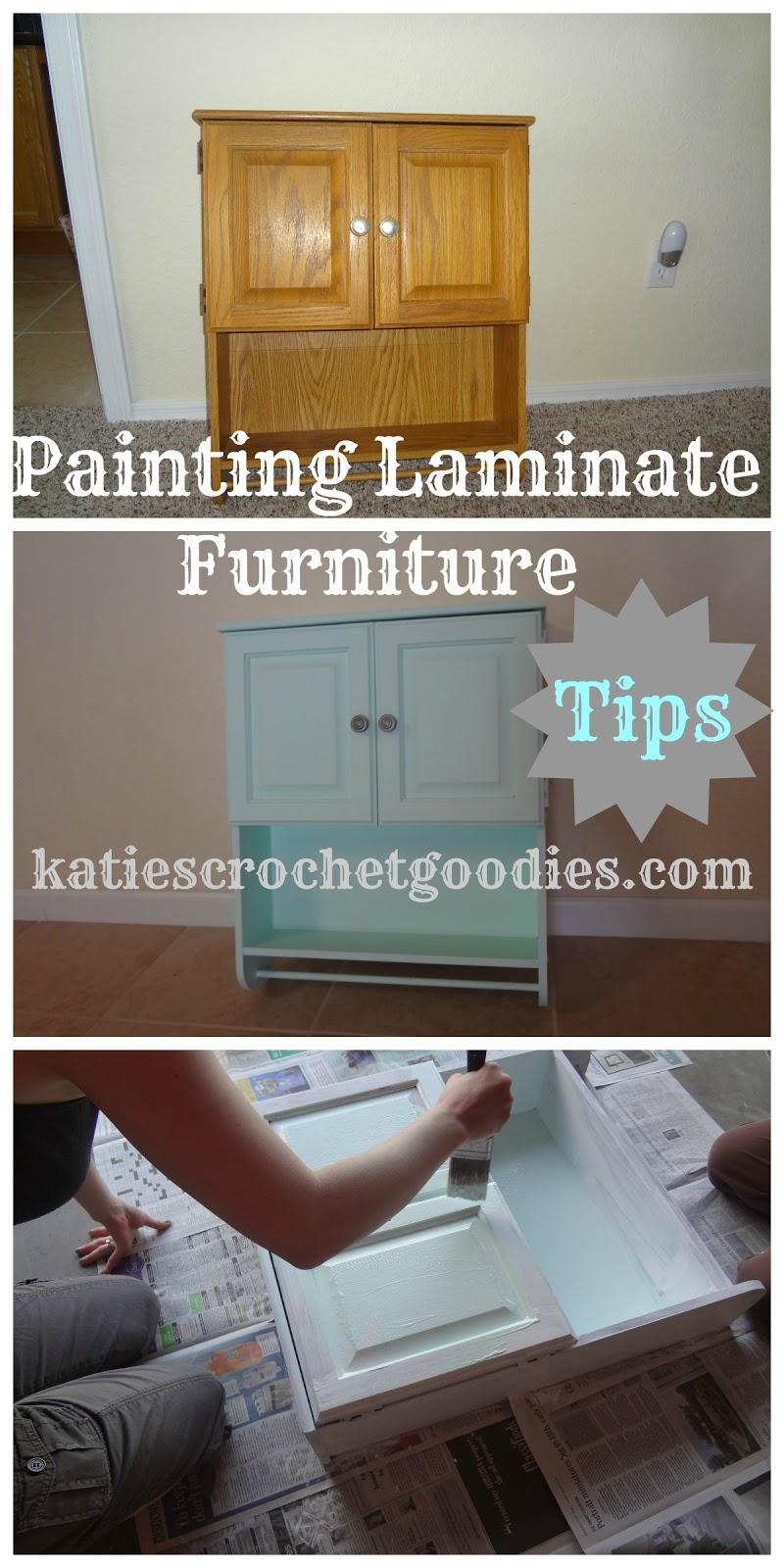painting laminate furniturePainting Laminate Furniture DIY  Katies Crochet Goodies