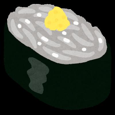 しらすのお寿司のイラスト