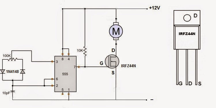 Simplest PWM DC motor speed controller ~ Simple Projects
