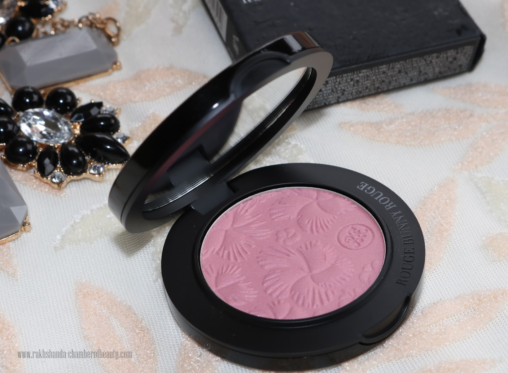 Rouge Bunny Rouge For The Love of Roses Original Skin blush- review, swatches & FOTD | New & Improved, Best luxury plum blush, Indian beauty blogger, Chamber of Beauty