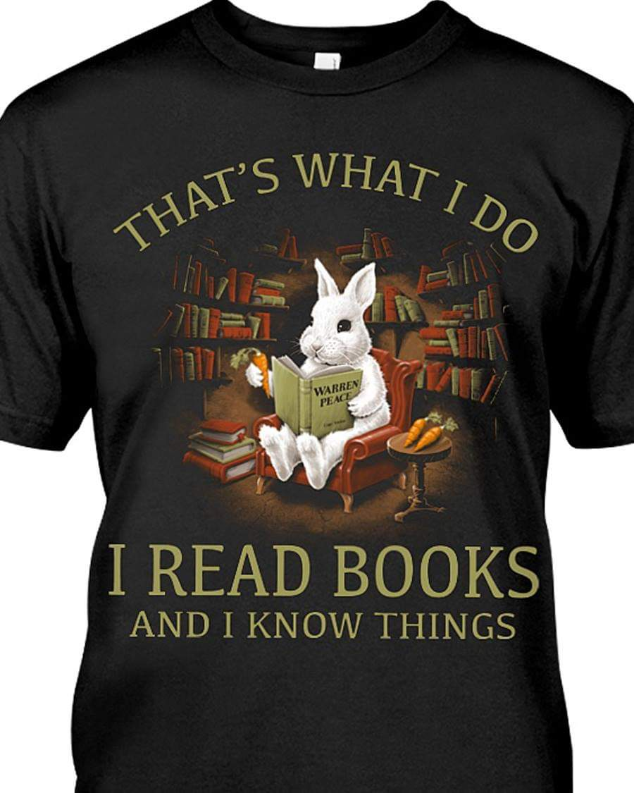 I read books