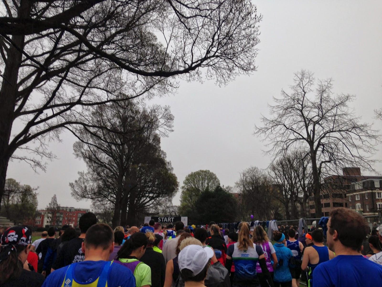 Brighton Marathon start line