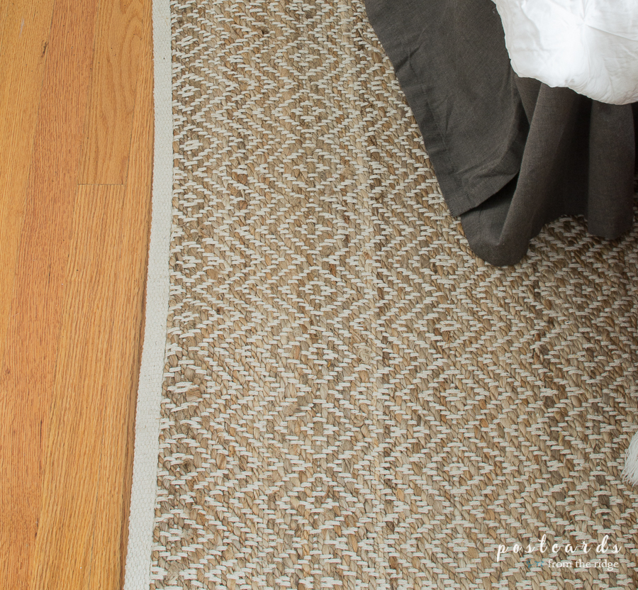 This jute and cotton rug is perfect for coordinating with so many different styles.