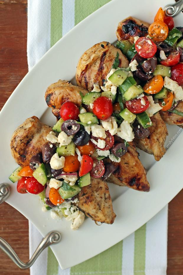 #Mediterranean #Topped #Grilled #Chicken