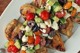 Mediterranean Topped Grilled Chicken