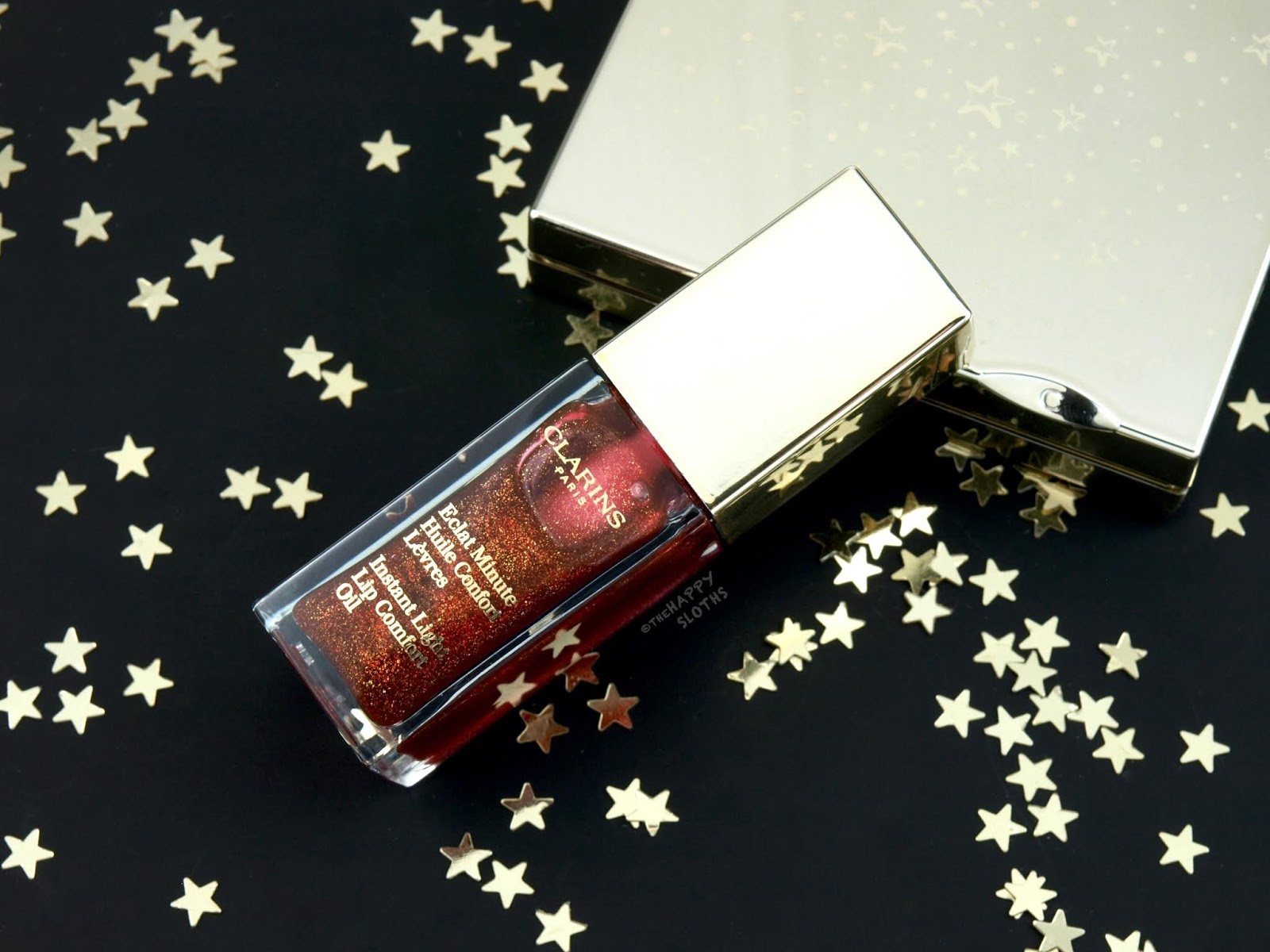 "Clarins | Holiday 2018 Instant Light Lip Comfort Oil in ""09 Red Berry Glam"": Review and Swatches"
