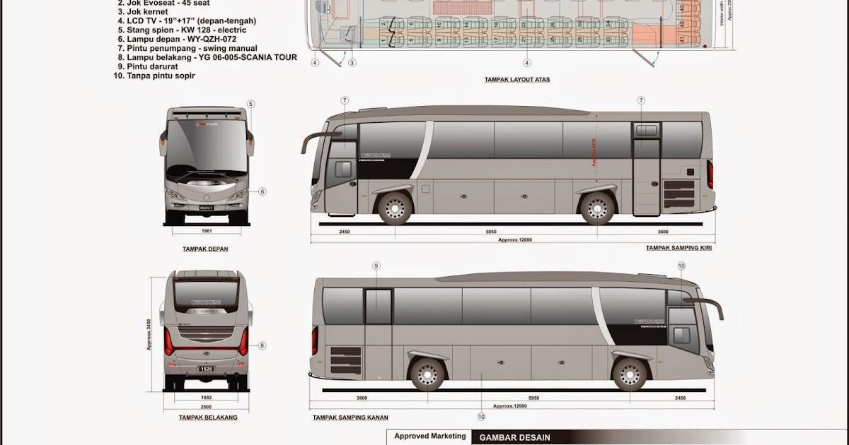Tipe Bus Pariwisata Big Bus - Informasi Bus Pariwisata di