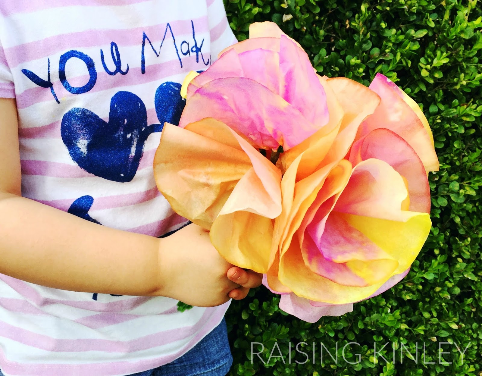 GORGEOUS (& CRAZY EASY) COFFEE FILTER FLOWERS | Raising Kinley