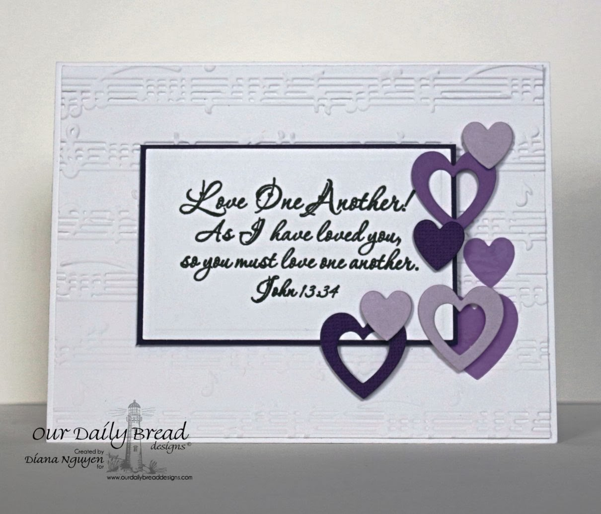 Diana Nguyen, Our Daily Bread Designs, Love One Another, ODBD Custom Ornate Hearts Dies