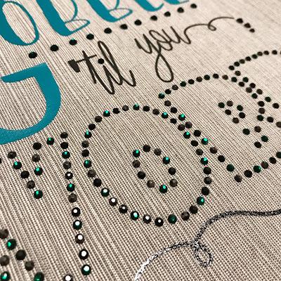 Silhouette Rhinestones - Gör om en font till strass-design