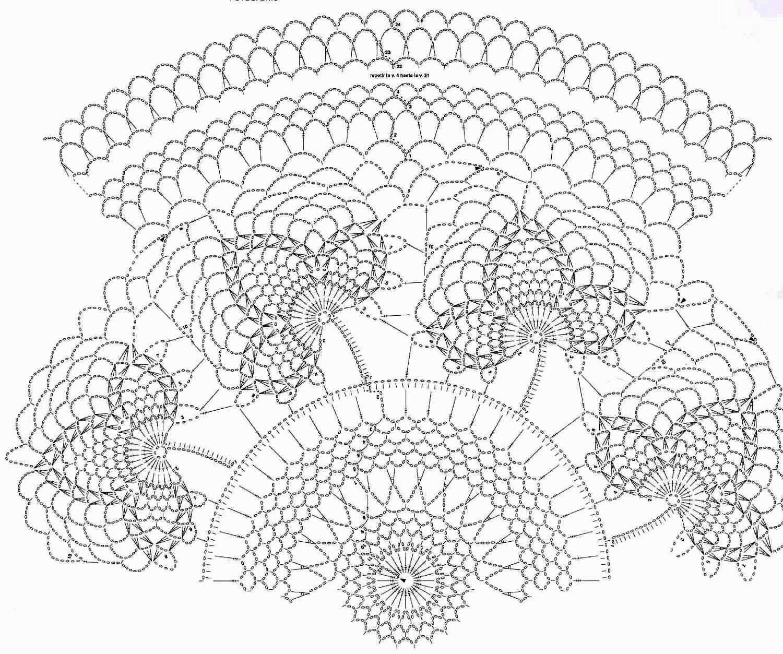 Mi Crochet Tapete Redondo Hojas