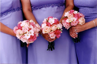 Artificial Roses Bridesmaid Flower Bouquets
