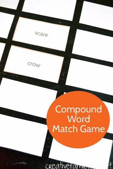 Learn all about compound words with this fun, printable Compound Word Match Game.
