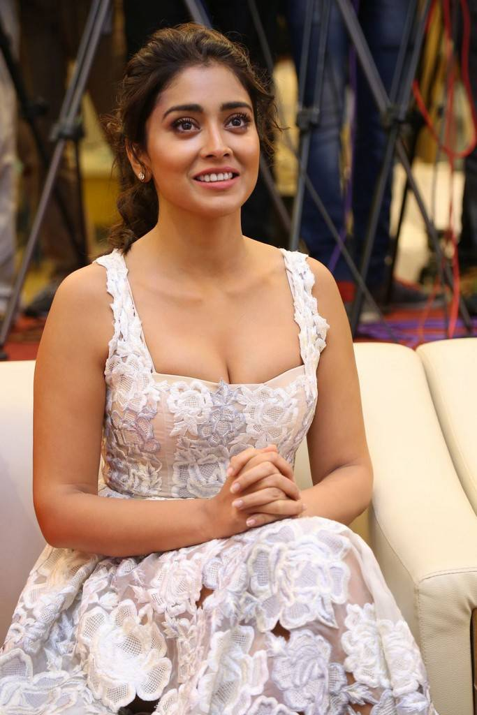 Actress Shriya Saran full cleavge