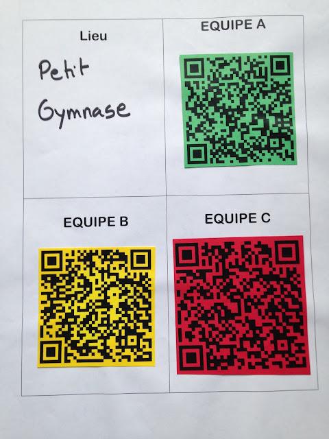 course lecture- QRCodes petit gymnase
