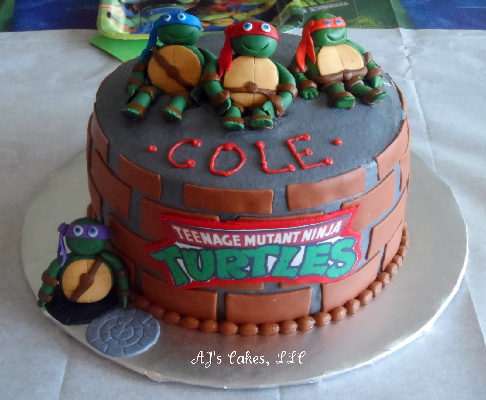 Aj S Cakes Teenage Mutant Ninja Turtle Cake