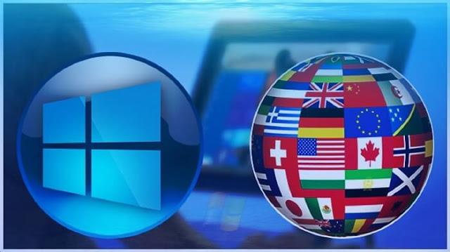 لغة العرض في ويندوز 10 غير متوفر