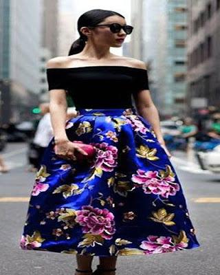 Outfits con faldas FLOREADAS elegantes tumblr que te haran lucir única