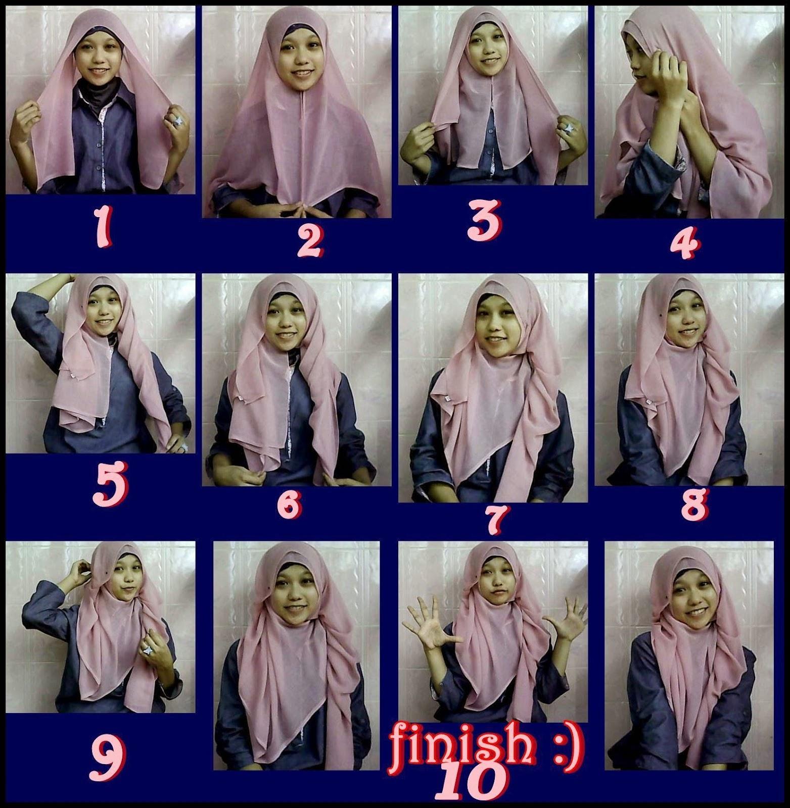 Tutorial Hijab Segi Empat Ala Hijabers Tutorial Hijab Paling
