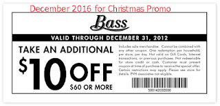 Bass coupons december 2016