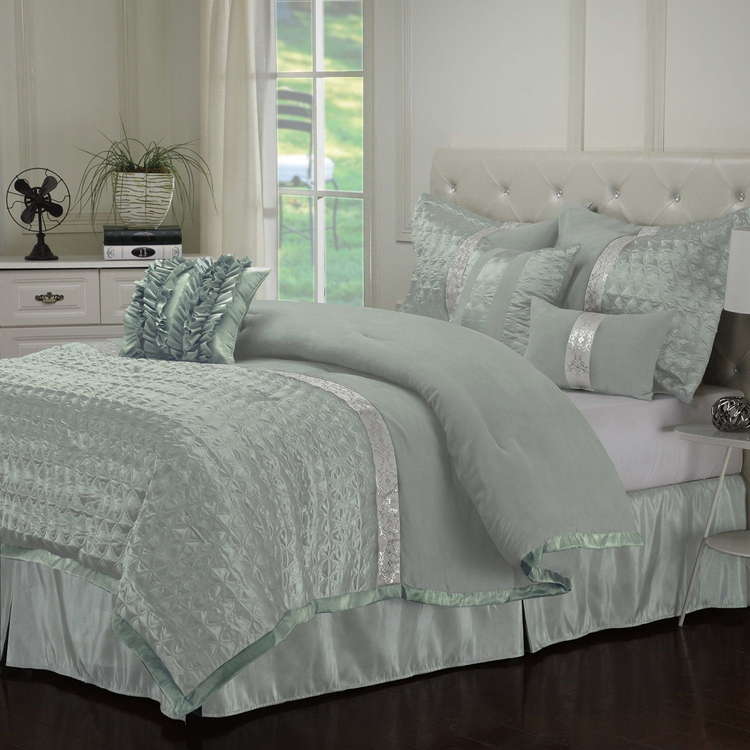 Seafoam green comforters duvets bedding sets - Bedroom sheets and comforter sets ...