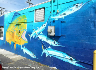 Sea Life Wall Mural at Spadafora's in Ocean City New Jersey
