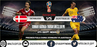 Prediction Denmark vs Australia 2018 World Cup