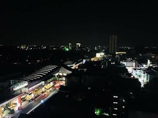 Night time skyline of Bangalore city