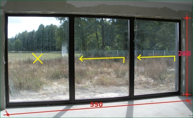 drzwi tarasowe przesuwne trzyskrzydłowe HS, okna tarasowe HST,