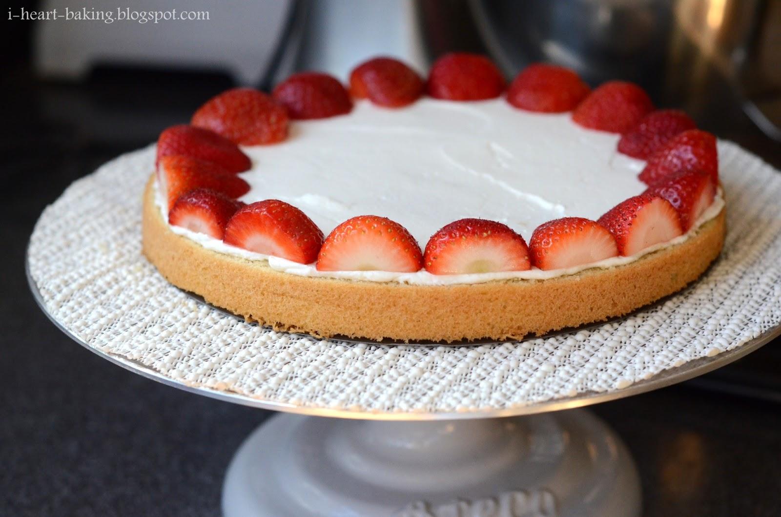 I Heart Baking Strawberry Cream Cake