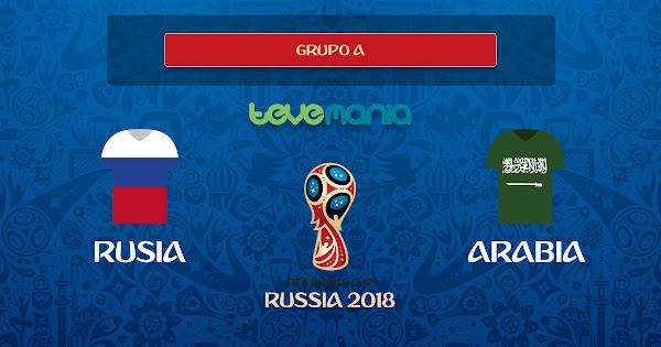 Rusia goleó 5 a 0 a Arabia en el Grupo A del mundial