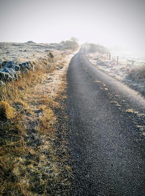 winding road, sunrise, Connemara