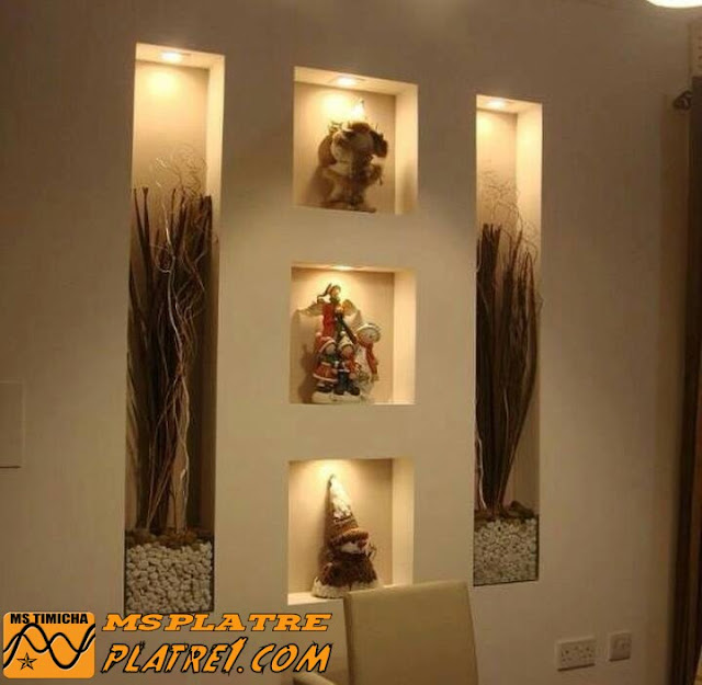 Decoration mur salon en platre - Decoration des plafonds en platre ...