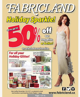 Fabricland flyer this week November 2 - 30, 2017