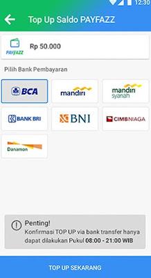 daftar rekening bank payfazz