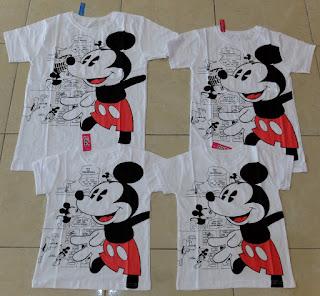 Jual Online Family Komik Mickey Couple Murah Jakarta Bahan Combed Terbaru.