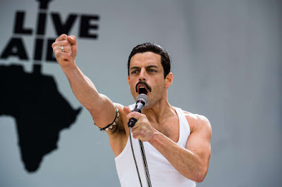 Bohemian Rhapsody 2018 movie still Rami Malek Freddie Mercury