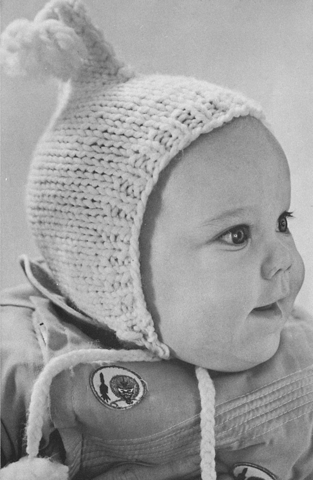 The Vintage Pattern Files  Free 1960 s Knitting Pattern - Dopey Baby Hat b4dbf9d30f1