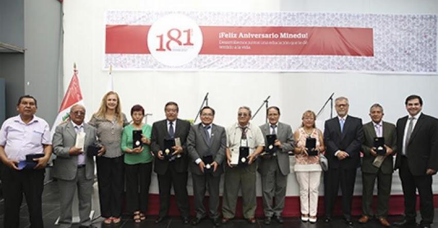 MINEDU celebra 181 aniversario con homenaje a trabajadores cesantes - www.minedu.gob.pe