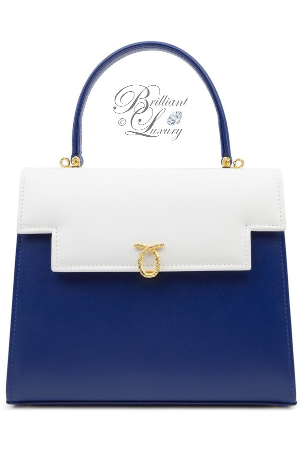 Brilliant Luxury ♦ Launer Traviata classic top handle handbag calf leather, supporting The Queen Elizabeth Scholarship Trust